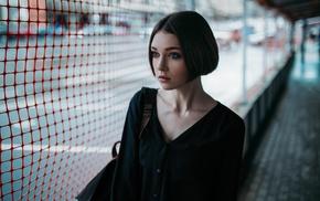 Ivan Proskurin, face, girl outdoors, urban, Olya Pushkina, portrait