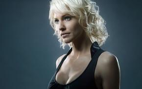 girl, actress, Tricia Helfer, blonde, Cylons, Battlestar Galactica