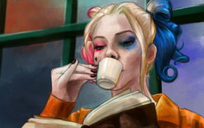 Suicide Squad, DC Comics, Harley Quinn, colorful, Margot Robbie