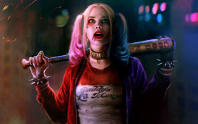 Harley Quinn, girl, movies, DC Comics, Margot Robbie, Suicide Squad