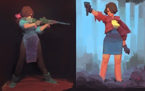 artwork, gun