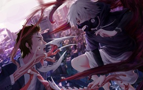 Kaneki Ken, Izumi Shinichi, crossover, Parasyte, the maxim,