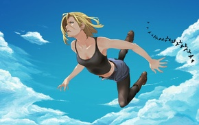 blonde, anime girls, Dragon Ball, cleavage, Android 18