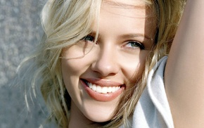 Scarlett Johansson, girl, actress, celebrity, smiling