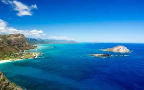Hawaii, beach, horizon, shore, oahu