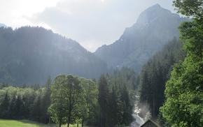 Switzerland, Bernese Alps, Alps, Lenk, shack, Swiss Alps