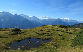Rideralp, mountains, Switzerland, Aletsch Glacier
