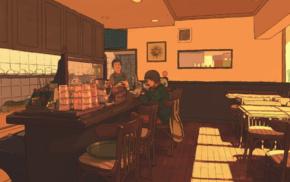 cafes, Japan, anime