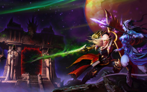 Blood Elf, fantasy art, video games, draenei, World of Warcraft