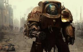 digital art, Terminator, Warhammer 40, 000, space marines