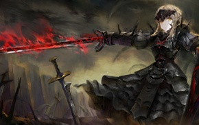 Fate Series, FateZero, sword, Saber Alter