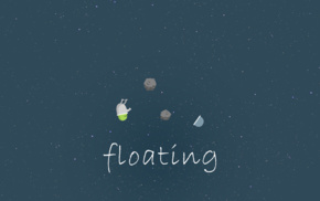 astronaut, asteroid, night, stars, sky, floating