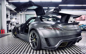 car, Mercedes, Benz SLS AMG, C63 AMG, Mansory