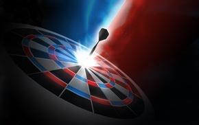 digital art, darts, dots, sport, dartboard, blue