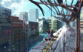 Touhou, landscape, Maribel Han, Usami Renko, anime, city