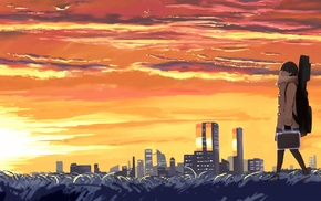anime, Japan, landscape, city