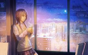 calm, anime, anime girls