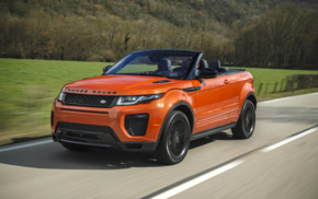 vehicle, Range Rover Evoque, road, motion blur, Convertible, car