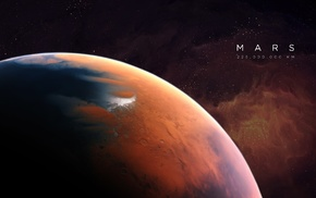 space, planet, artwork, Mars, space art, universe