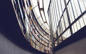 library, architecture, building, books