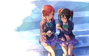 artwork, anime, Love Live, Yazawa Nico, Nishikino Maki, school uniform