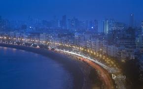 Mumbai, building, cityscape, lantern, water, city