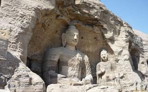meditation, rock, religion, sculpture, statue