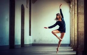 ballet, ballerina, dancing, black panties