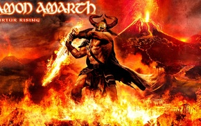 melodic death metal, digital art, death metal, medieval, Amon Amarth, viking death metal