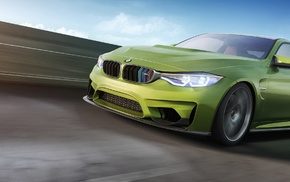 car, render, BMW M4, corona render