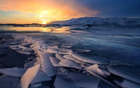 nature, glaciers, landscape, ice