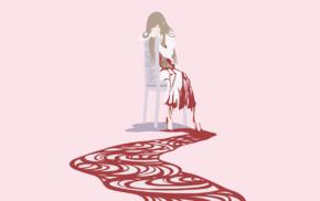 minimalism, anime girls, Fuwa Aika, Zetsuen no Tempest
