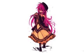 original characters, pink hair