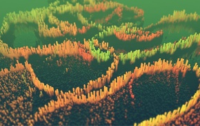 Photoshop, render, Cinema 4D, colorful