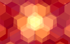 abstract, hexagon