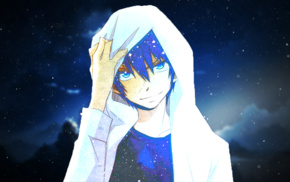 anime, Blue Exorcist, blue, Okumura Rin