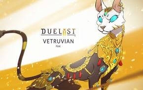 Duelyst, cat, digital art, concept art, artwork