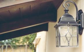 vintage, wood, green, lantern