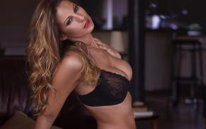 model, girl, bra, lingerie