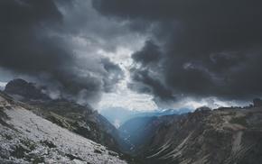 clouds, nature, landscape, mountains