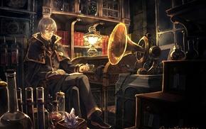 laboratories, magic, library, Pixiv Fantasia, anime