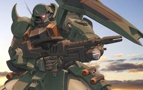 desert, Zaku II, Gundam, mech