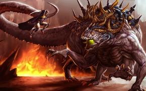 warrior, creature, fantasy art, artwork