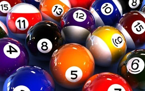 colorful, bingo balls