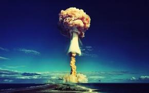 atomic bomb, mushroom clouds