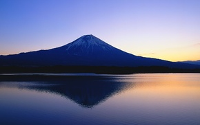 lake, landscape, mountains