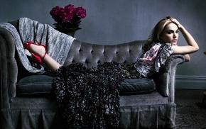 Natalie Portman, girl, couch
