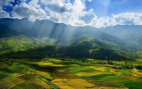 landscape, sunlight