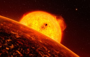 Sun, stars, space, planet