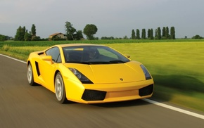 yellow cars, vehicle, car, road